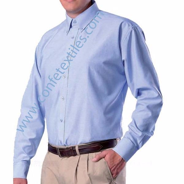 camisa-oxford-manga-larga-hombre-