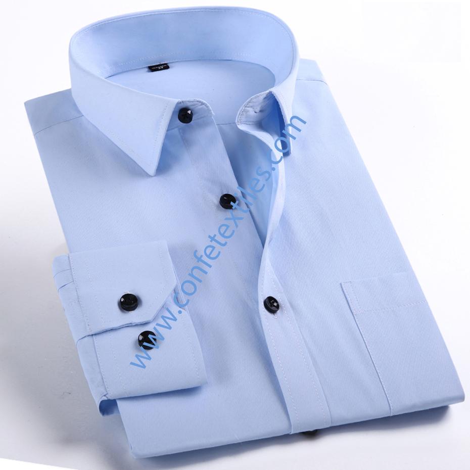 camisa popelina golt celeste